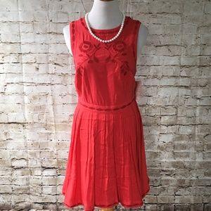 FP free people red/orange boho dress